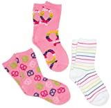 Jacques Moret Girls 7-16 Pink/multi Colored Girls 3 Pack Pretzel Theme Anklets