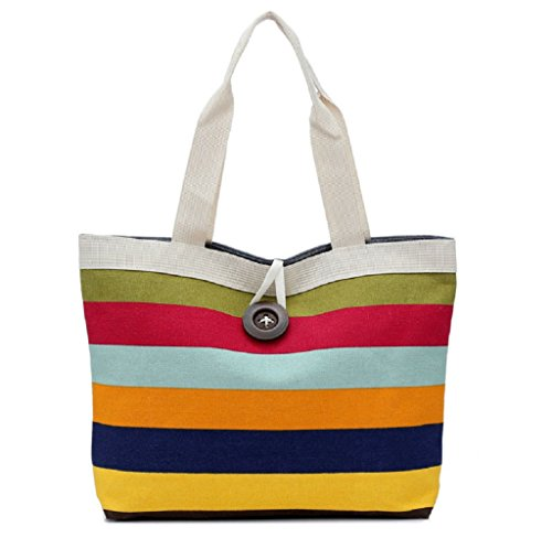 Borsa Familizo Elegant Lady Fashion Shopping Handbag Canvas Shoulder Tote Bag borsa Messenger (Rosso)