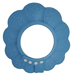 BESTEK drain stopper hat shampoo cap bath hat shower cap baby shower accessories baby hair shampoo and body wash (with ultra-adjustable hook loop fastener to find the just-perfect fit)BTSC201 (blue)
