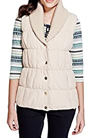 Knitted Shawl Collar Padded Gilet with Stormwear� [T62-0709K-S]