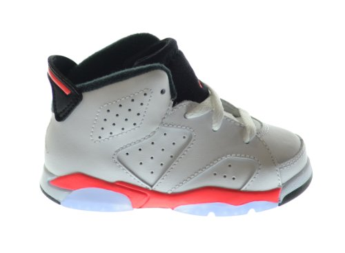Air Jordan 6 Retro (BT) Baby Toddlers Basketball Shoes White/Infrared-Black 384667-123 (5 M US)