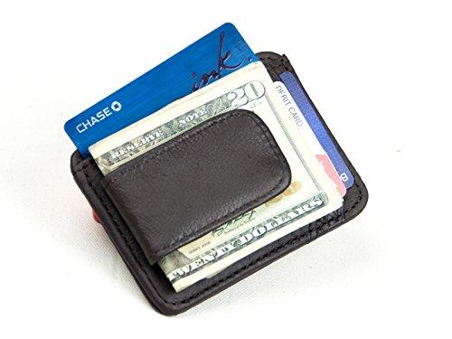 designer money clip card holder 0mho  Goson庐 Leather Slim Money Clip & Credit Card Holder