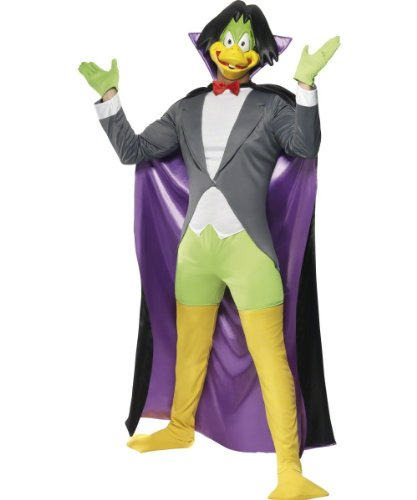 Smiffy's Count Duckula 80s Cartoon Character Costume for Adults