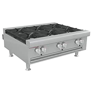 Gas Countertop Stove Reviews : ... HDO-36 Flat Top Gas Countertop Range, 6 Burners: Kitchen & Dining