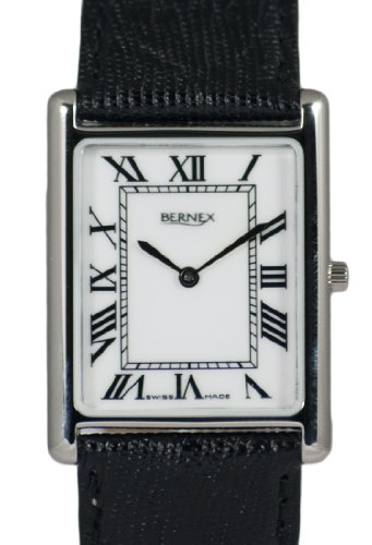 Bernex GB111413 - Reloj de pulsera hombre, piel, color blanco