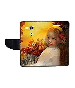 KolorEdge Printed Flip Cover For Sony Xperia SP Multicolor - (45KeMLogo10755XperiaSP)