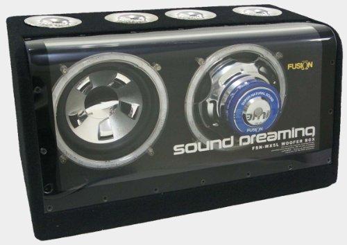 REMIX(レミックス) アンプ内蔵ダブルウーファーボックス (LEDブルーイルミ) FSN-WX5L