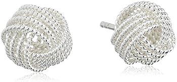 Sterling Silver Twisted Earrings