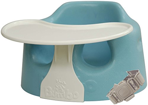 Bumbo バンボ コンボ プレートレイ付き ベビーソファ 【正規総輸入元】 後から付けられる専用腰ベルト入り ブルー