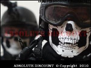 Multifunctional Headwear 12 In 1 Neck Warmer Mask Ghost Skull - Call Of Duty Modern Warfare Mw3 Black Ops Battlefield - Airsoft Paintball Motorcycle Ski Outdoor from GEAR
