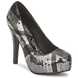 Iron Fist New JACKED UP Black Silver Pump Platform Sexy Shoes Sandals Rock Heels