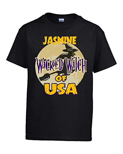 Halloween Costume Jasmine Wicked Witch Of Usa Great Personalized Gift - Kids T Shirt
