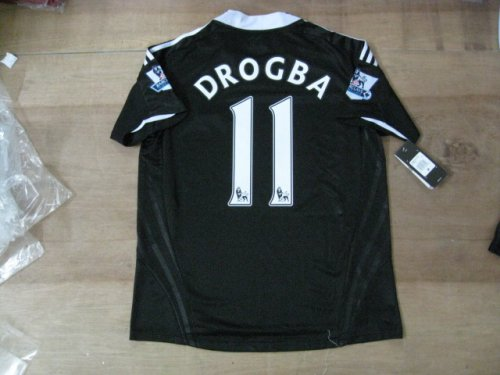08-09 CHELSEA FC AWAY JERSEY DROGBA + FREE SHORT (SIZE M)