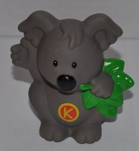 "Little People Koala Bear - ""K"" is for Koala from A to Z Learning Zoo Playset - Replacement Figure - Classic Fisher Price Collectible Animal Figures - Zoo Circus Ark Pet Castle Outback Letters Alphabet"
