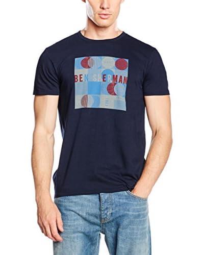 Ben Sherman T-Shirt Geo Gingham Logo marine