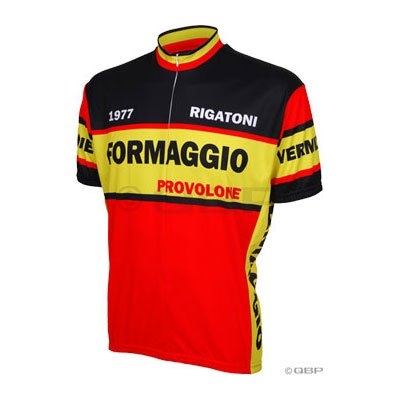 Buy Low Price World Jerseys 1977 Formaggio Cycling Jersey: Red/Black/Yellow; XL (B007FTNH2C)