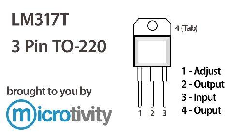microtivity pack of 5 lm317 adjustable voltage regulator
