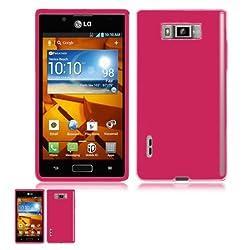 LG Venice LG730 Pink TPU Crystal Skin Case