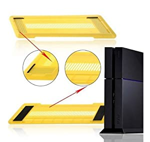 Goliton® stylish anti-slip vertical stand holder for Sony Playstation 4 PS4 Console - Yellow