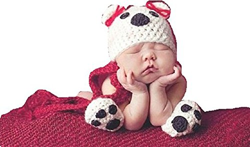 CX-Queen Newborn Baby Dog Infant Crochet Handmade Beanie Hatcaps Outfit Photo Props