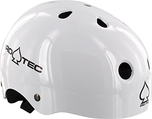 PRO-TEC The Classic EPS Foam Liner Gloss White Medium Skateboard Helmet - CE/CPSC Certified