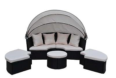 Poly-Rattan Liege Sonnenliege Strandkorb Bett Gartenmöbel Garten Möbel Sessel Stuhl - XXXL von D&S Vertriebs GmbH - Gartenmöbel von Du und Dein Garten