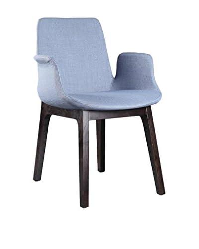Ceets Glide Dining Arm Chair, Light Blue/Gray