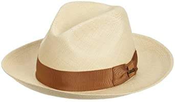 Christys' of London Men's Pinch Front Panama Straw Safari Hat,Natural,Medium