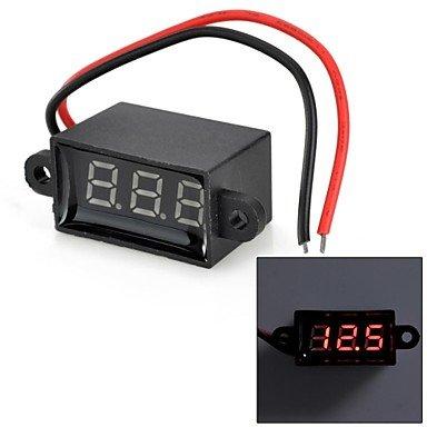 """Zcl Jtron 0.28"""" Led 3-Digital Display Voltmeter - Black (3.50~30.0V)"""