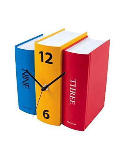 Present time Reloj De Mesa Book Paper Diseño Sjoerd Van Heumen Multicolor
