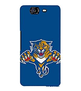 EPICCASE tiger case Mobile Back Case Cover For Micromax Canvas Knight A350 (Designer Case)