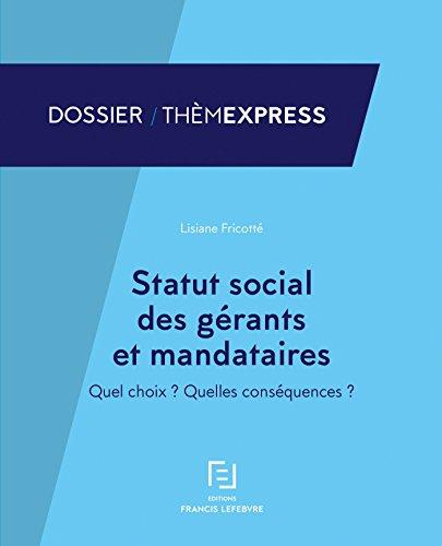 Statut social des gérants et mandataires