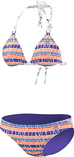 Adidas Beach Print Mix Bikini, blau/bunt gestreift - 38