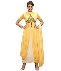 Yellow Anarkali Dress (Georgette_PartyWear)