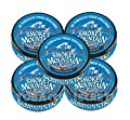 Smokey Mountain Snuff, 5 Cans - Arctic Mint POUCH - Tobacco Free, Nicotine Free - 20 pouches per can