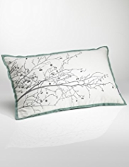 Conran Embroidered Branch Cushion