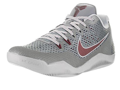 Nike Men's Kobe XI Cool Grey/Team Red Wolf Grey Basketball Shoe 10.5 Men US (Cool Greys 11 compare prices)