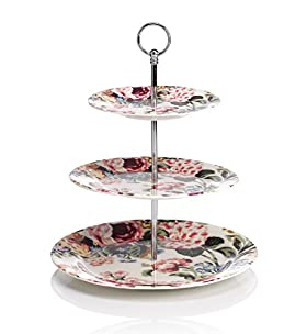 3-Tier Country Garden Floral Cake Stand