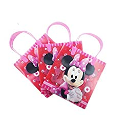 6 Piece Red Minnie Mouse Gift Bags - Childrens Gift Bags