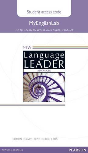 New Language Leader Advanced MyEnglishLab Access Card Standalone