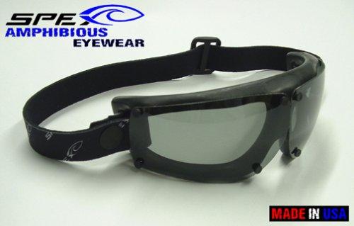 Spex Amphibious Eyewear Black with Grey Polarized Lenses