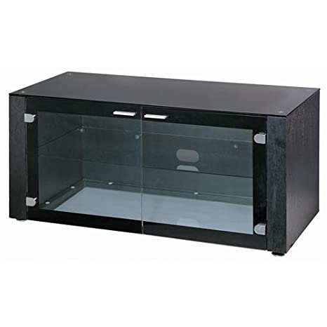 Lite Source LSH-5610BLK 19.5in. Davis Tier TV Stand, Black