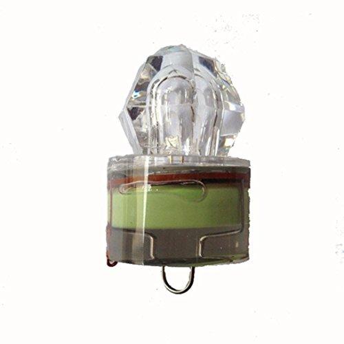 Perman Water Activated Deep Drop Underwater Diamond LED Fishing Flashing Light Bait Lure Squid (Green )