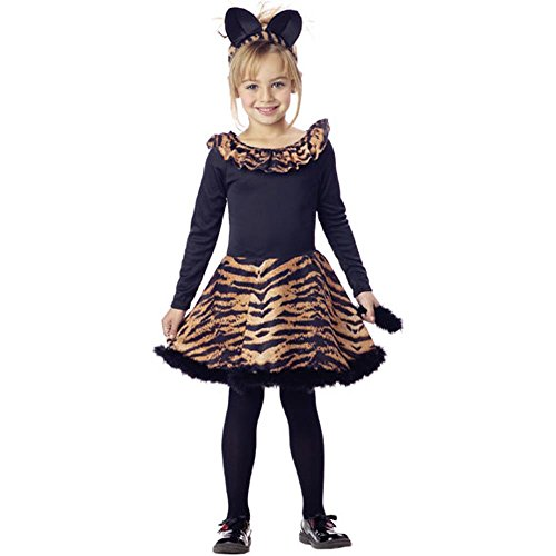Child's Tiger Dress Halloween Costume (Size: Small 6-8)