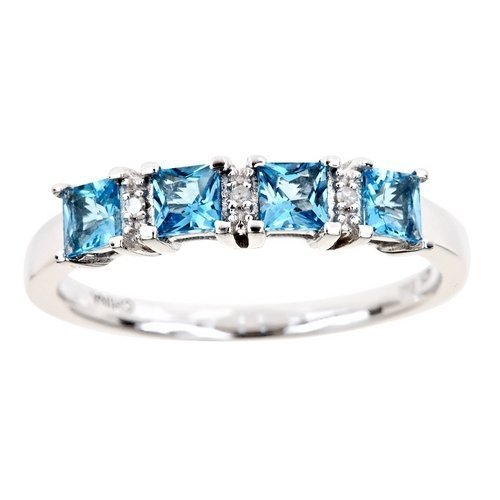 89-Carat-Princess-Cut-Blue-Topaz-Diamond-Ring-Wedding-Band