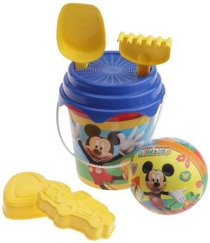 Imagen principal de Mondo 18532 Disney Mickey Mouse - Juguetes de playa: pelota, rastrillo, para y moldes