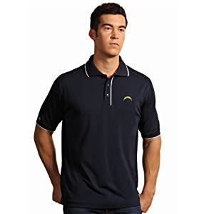 NFL San Diego Chargers Mens Elite Desert Dry Polo by Antigua