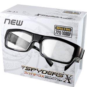 スパイダーズX メガネ型カメラ 小型カメラ スパイカメラ (E-231) クリアレンズ