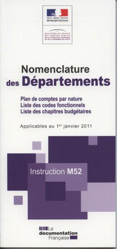 Nomenclature des départements : Instruction M52