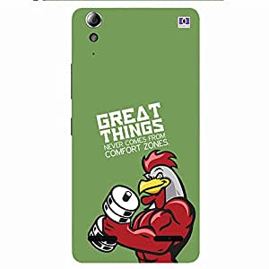 Great Things Confort Zones - Mobile Back Case Cover For Lenovo A6000 Plus